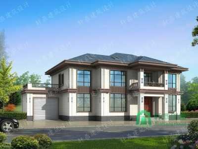 别墅车库 二层中式自建别墅设计图